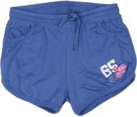 Elle Kids Short For Solid Cotton Modal Blend(Blue)