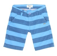 Pepe Jeans Short For Boys Casual Striped Cotton(Blue, Pack of 1) thumbnail