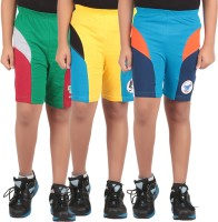 KNIT ABC Garments Short For Boys Casual Embriodered Cotton(Multicolor, Pack of 3)