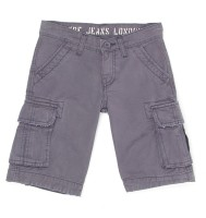 Pepe Jeans Short For Boys Casual Solid Cotton(Grey, Pack of 1)