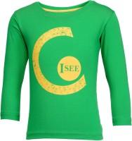 NO.99 Boys Printed Cotton T Shirt(Green, Pack of 1)