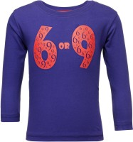 NO.99 Boys Printed Cotton T Shirt(Purple, Pack of 1)