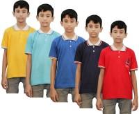 Kothari Boys Printed Cotton T Shirt(Multicolor, Pack of 5)