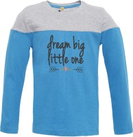 Insta Fab Boys Solid Cotton T Shirt(Light Blue, Pack of 1)