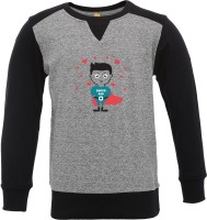 Insta Fab Boys Printed Cotton T Shirt(Grey, Pack of 1)