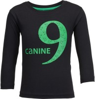 NO.99 Boys Printed Cotton T Shirt(Black, Pack of 1)