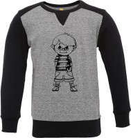 Insta Fab Boys Solid Cotton T Shirt(Grey, Pack of 1)