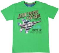 Gini & Jony Boys Printed Cotton T Shirt(Green, Pack of 1)