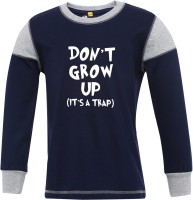 Insta Fab Boys Solid Cotton T Shirt(Blue, Pack of 1)