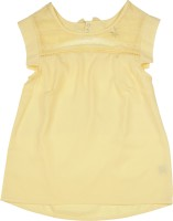 Allen Solly Junior Girls Printed Polyester T Shirt(Yellow)
