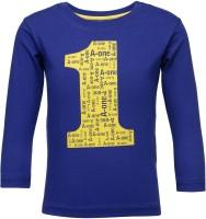 NO.99 Boys Printed Cotton T Shirt(Purple, Pack of 1)