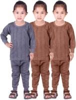 Red Fort Top - Pyjama Set For Girls(Blue, Pack of 6)