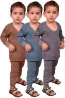 Red Fort Top - Pyjama Set For Boys(Grey, Pack of 6)