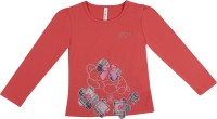 Hunny Bunny Girls Casual Cotton Lycra Blend Full Sleeve Top(Red, Pack of 1)