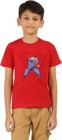 Frang Boys Solid Cotton T Shirt(Red, Pack of 1)