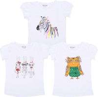 Minnow Casual Cotton Top(Multicolor, Pack of 3)
