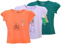 Minnow Girls Casual Cotton Top(Multicolor, Pack of 3)