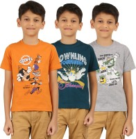 Frang Boys Solid Cotton T Shirt(Grey, Pack of 3)