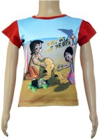 Chhota Bheem Girls Casual Cotton Top(Multicolor, Pack of 1)