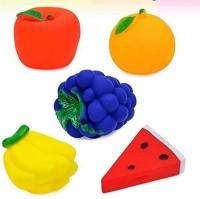 Psb TOYS Colourful Fruits Chu Chu Squeezy Bath Toys f Bath Toy(Multicolor)