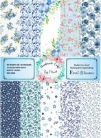 Dheett Floral Blossom Scrapbook Designer Paperpack A4 300 gsm Craft paper(Set of 1, Floral Blossom)