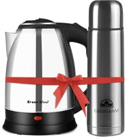 green kivvi MO-18-SS-WITH-FLASK Electric Kettle(1.8 L, Silver)