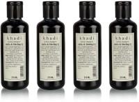 Herbal Khadi Amla & Bhringraj shampoo, pack of 4(840 ml)