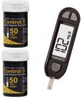 Control D 100 Strips & Glucometer(Black)