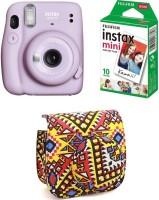 FUJIFILM Instax Mini INSTAX Mini 11 Instant Film Camera with 10X1 Pack of Instant Film With Bohemia Pouch Instant Camera(Purple)