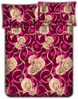 Bombay Dyeing 104 TC Cotton Double Abstract Bedsheet(Pack of 1, Pink)