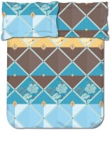 Bombay Dyeing 104 TC Cotton Double Abstract Bedsheet(Pack of 1, Blue)