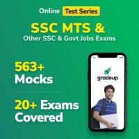Gradeup SSC MTS Mocks Test Preparation(Voucher)