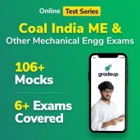 Gradeup Coal India Mech Mocks Test Preparation(Voucher)