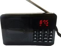 CRETO latest sm470 fm radio high digital sound support dual memory card, headphone out FM Radio(black)