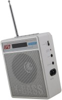 CRETO Portable SL413 Best Quality Sound Fm Radio Supports USB pen-drive, aux memory card FM Radio(Silver White)