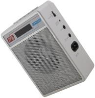 CRETO SL-413 Best Quality Sound Radio/Fm Supports USB pen-drive, aux memory card FM Radio(Silver White)