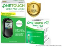 OneTouch Select Plus Simple Glucometer(Black)