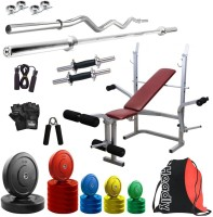 Headly Premium CP-HR-80KGCOMBO8 Coloured Home Gym Kit