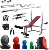 Headly Premium CP-HR-60KGCOMBO8 Coloured Home Gym Kit