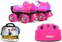 Jaspo Pink Heaven Dual Junior Combo (Skates+Helmet+Bag)Suitable For Age Upto 5 Years Skating Kit