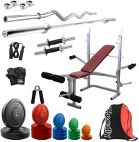 Headly Premium CP-HR-62KGCOMBO8 Coloured Home Gym Kit