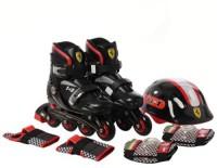 SWAGSPIN Ferrari Kids Adjustable In-line Skate Set - SIZE 33-36 Skating Kit