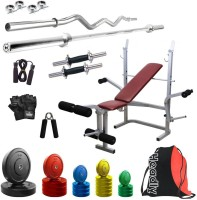 Headly Premium CP-HR-75KGCOMBO8 Coloured Home Gym Kit