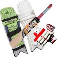 Avats 1 Pad Piu Leather & 1 Kashmiri Willow Bat & 1 Hand Gloves Set Cricket Kit