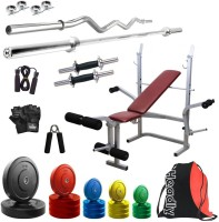 Headly Premium CP-HR-70KGCOMBO8 Coloured Home Gym Kit