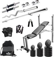 Headly 80 kg Combo BB 8 Convenient Home Gym Kit