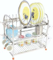 Amol Utensils / Glass / Plate / Cutlery / Crockery Stand Steel Kitchen Rack(Silver)