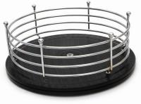 Disha JB'S Twist & Pick Wood, Steel Kitchen Rack(Black, Silver)