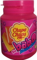 Chupa Chups Bubble Gum with Sweeteners ,Orange, Strawberry and Lemon Flavour , 64g Strawberry , Orange and Lemon Chewing Gum(64 g)