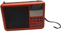 CRETO latest best quality sound fm radio supports usb pendrive,, memory card, aux ,headphone out FM Radio(Red, Black)
